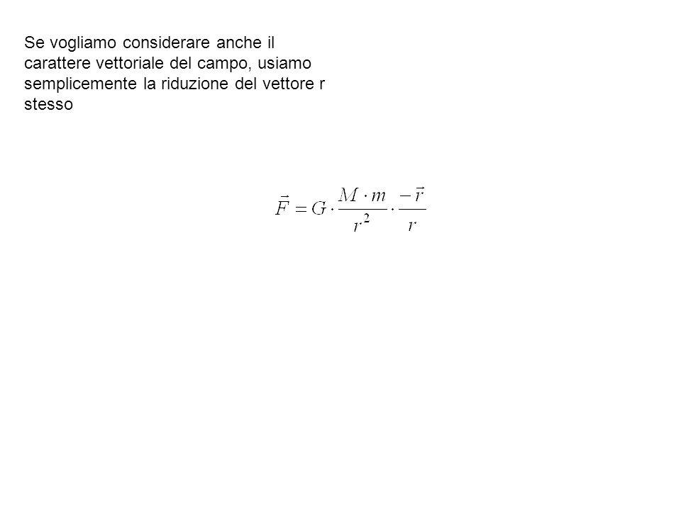 Se vogliamo considerare anche il carattere vettoriale del campo, usiamo semplicemente la riduzione del vettore r stesso