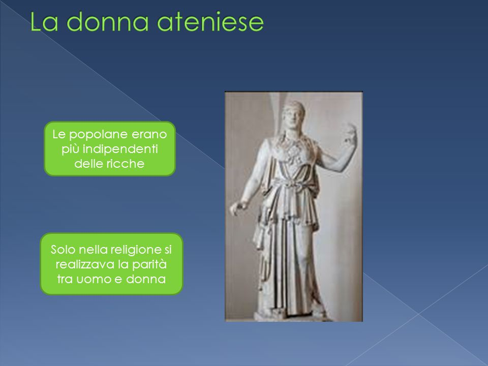 La donna ateniese Le popolane erano più indipendenti delle ricche