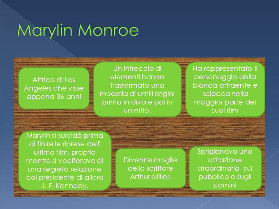 Marylin Monroe Un intreccio di elementi hanno trasformato una modella di umili origini prima in diva e poi in un mito.