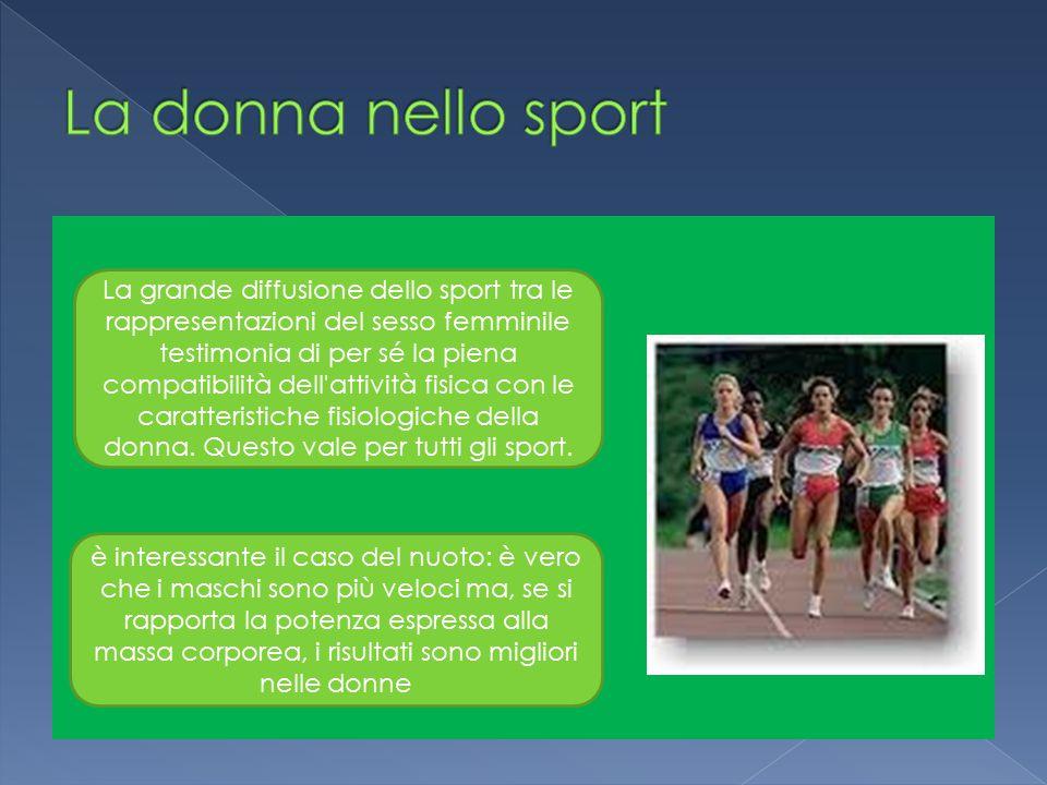 La donna nello sport