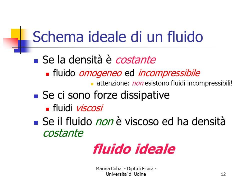 Schema ideale di un fluido