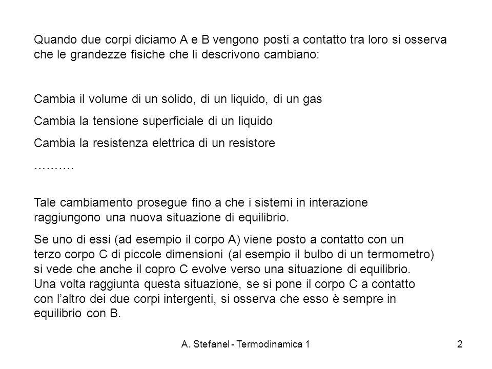 A. Stefanel - Termodinamica 1