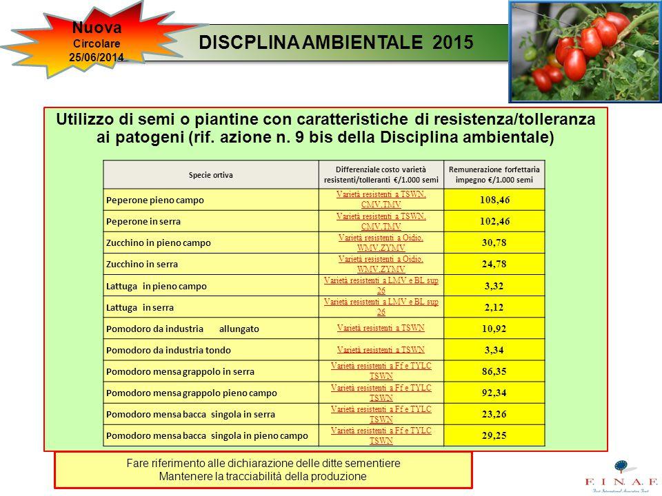 DISCPLINA AMBIENTALE 2015 Nuova