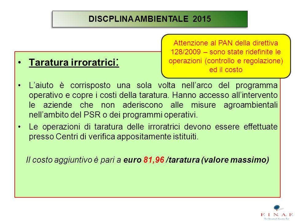 Il costo aggiuntivo è pari a euro 81,96 /taratura (valore massimo)