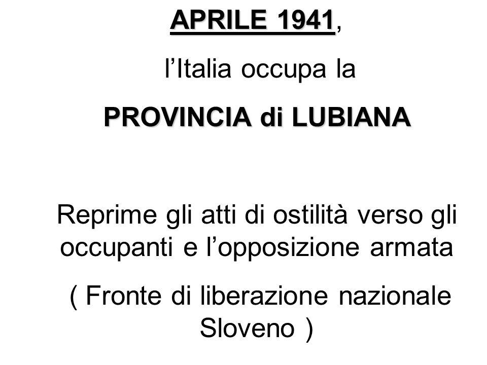 ( Fronte di liberazione nazionale Sloveno )