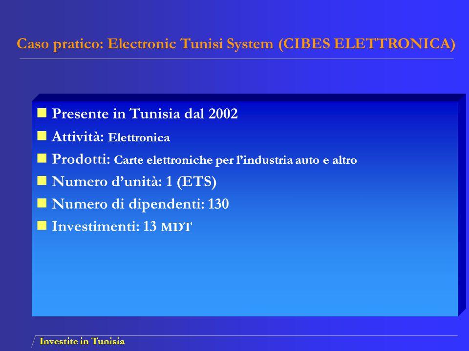 Caso pratico: Electronic Tunisi System (CIBES ELETTRONICA)