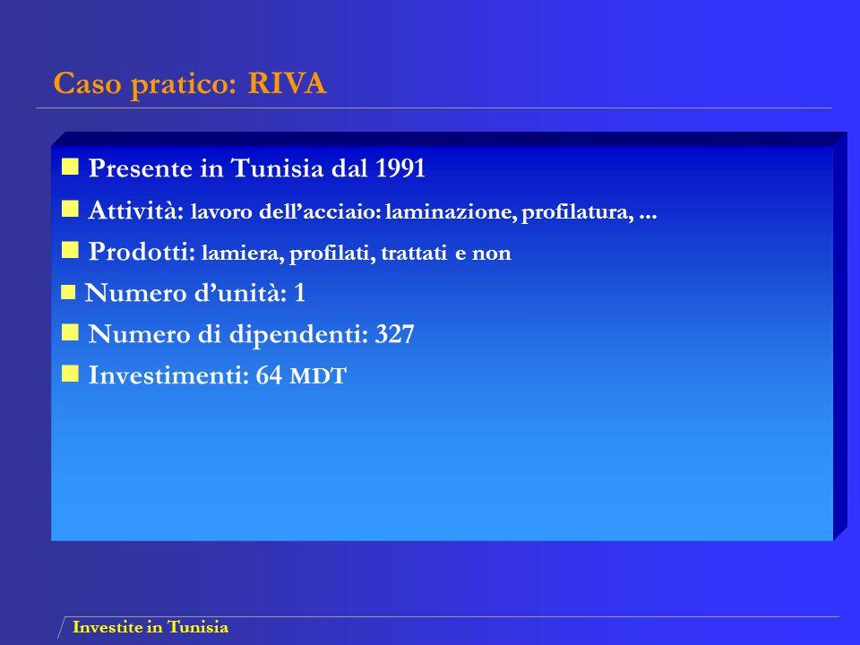 Caso pratico: RIVA Presente in Tunisia dal 1991