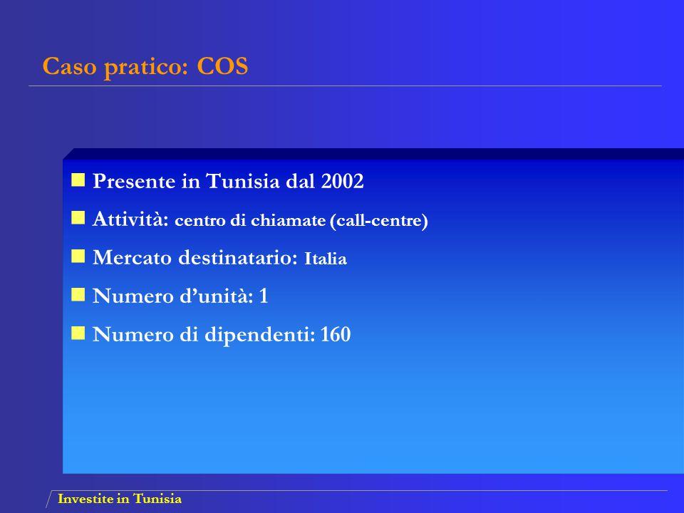 Caso pratico: COS Presente in Tunisia dal 2002