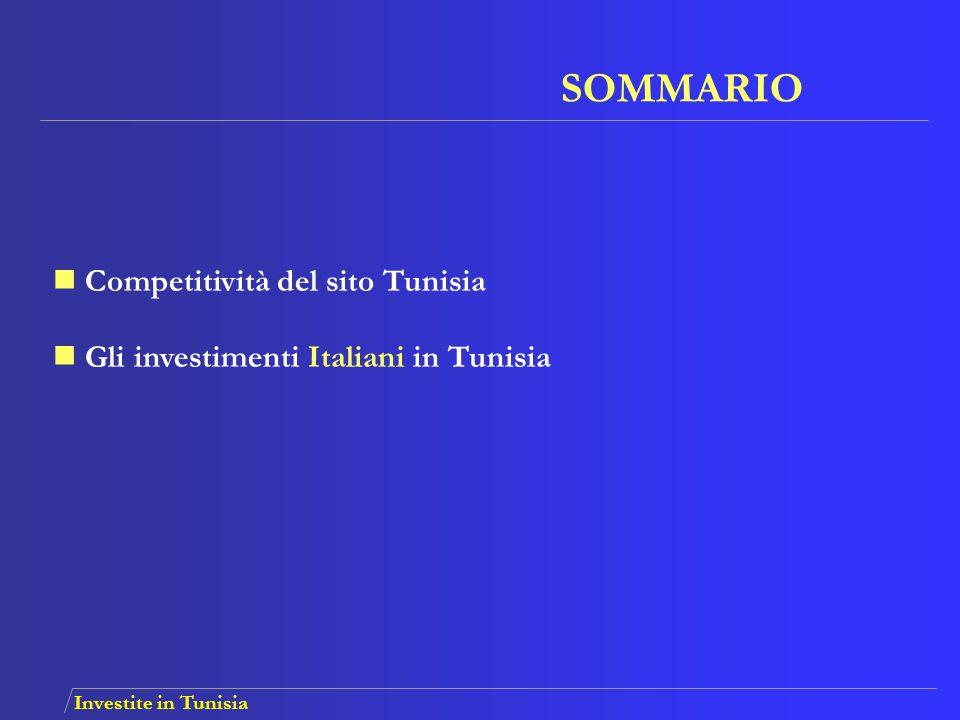 SOMMARIO Competitività del sito Tunisia