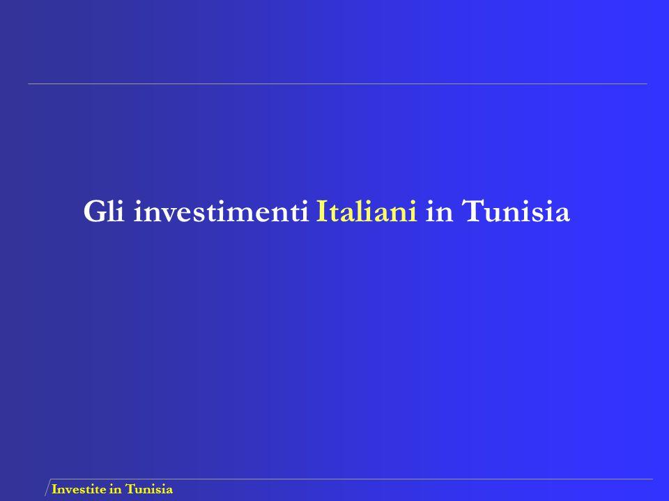 Gli investimenti Italiani in Tunisia