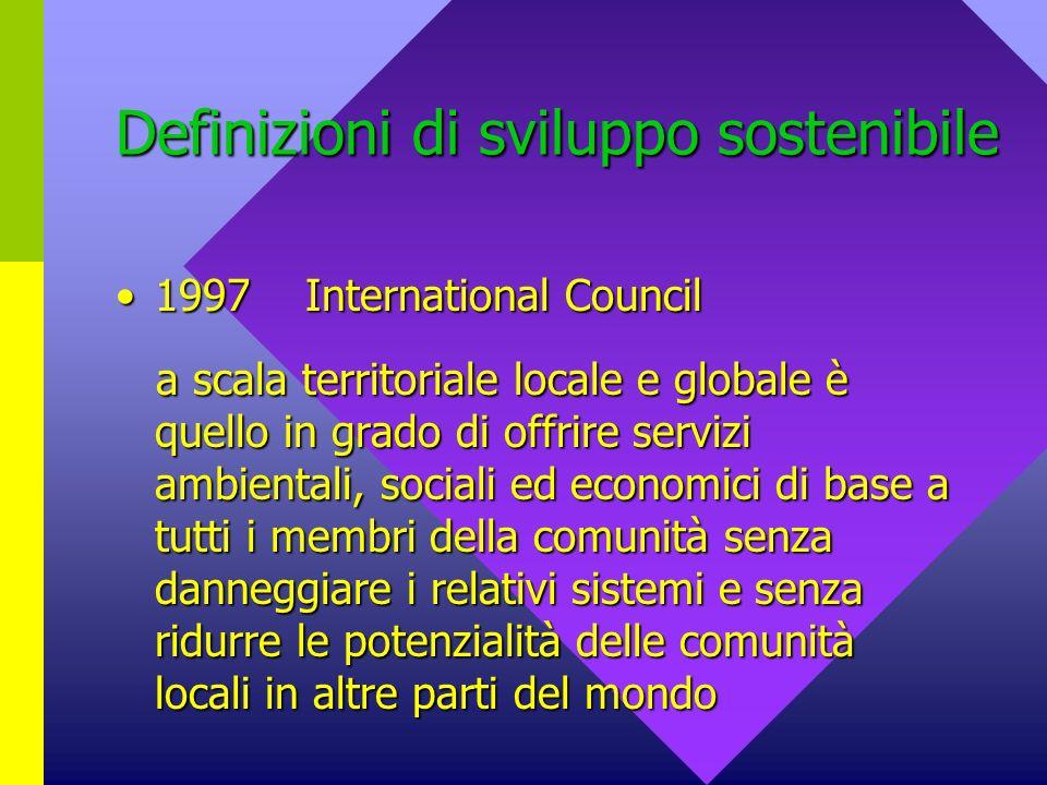 Definizioni di sviluppo sostenibile