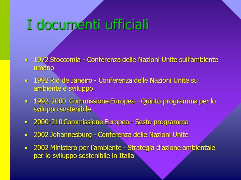 I documenti ufficiali 1972 Stoccomla - Conferenza delle Nazioni Unite sull'ambiente umano.