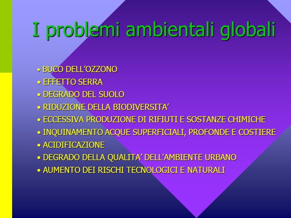 I problemi ambientali globali