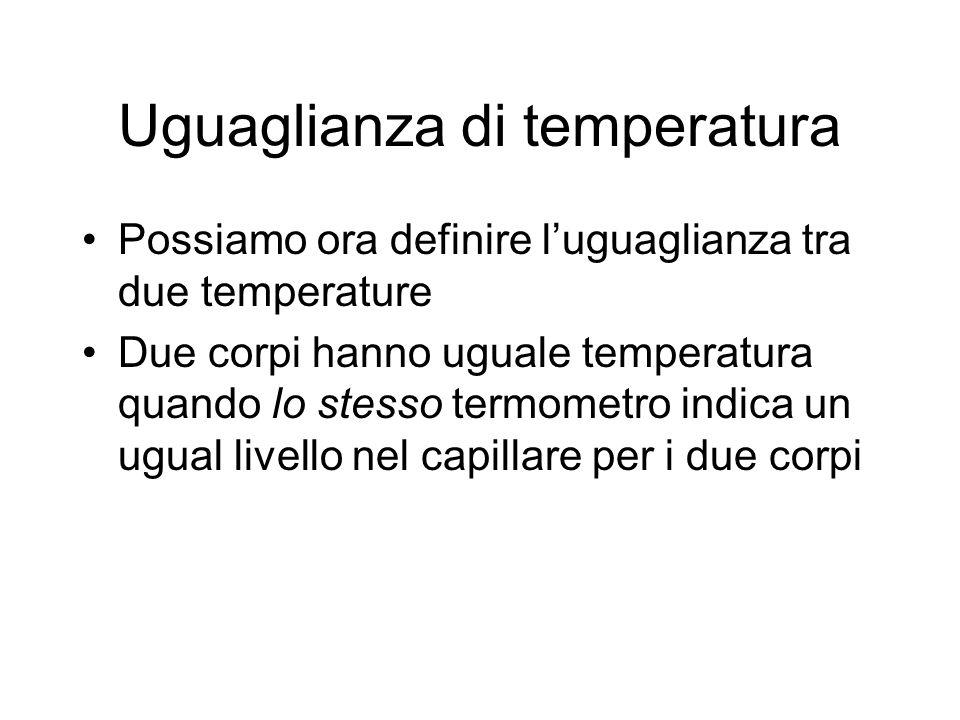 Uguaglianza di temperatura