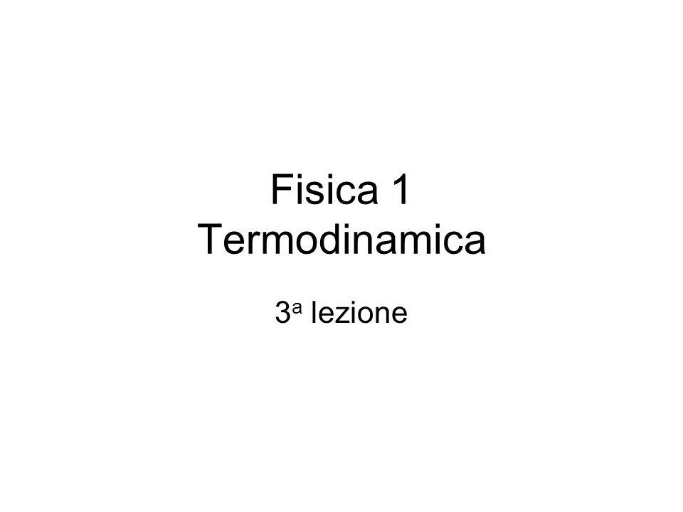 Fisica 1 Termodinamica 3a lezione