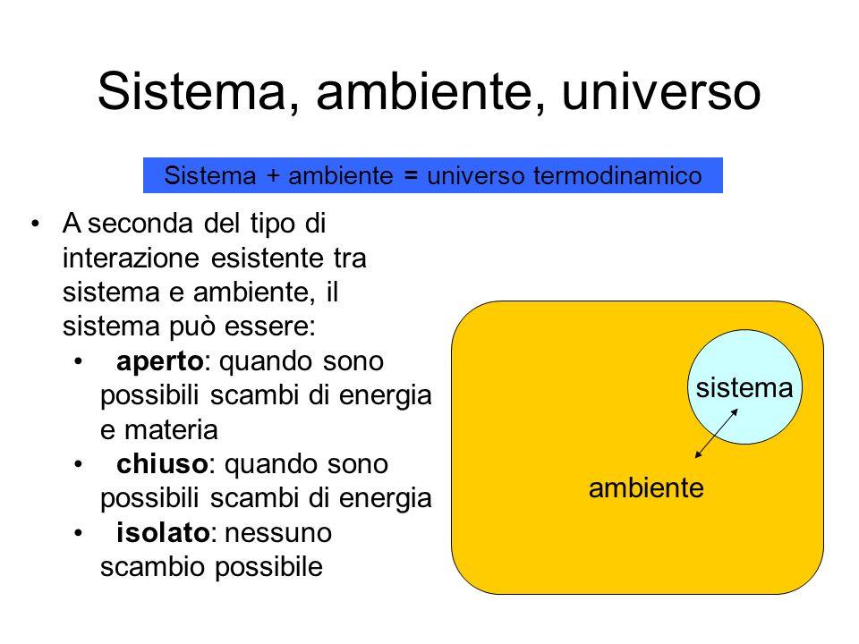 Sistema, ambiente, universo