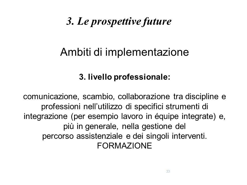 3. livello professionale: