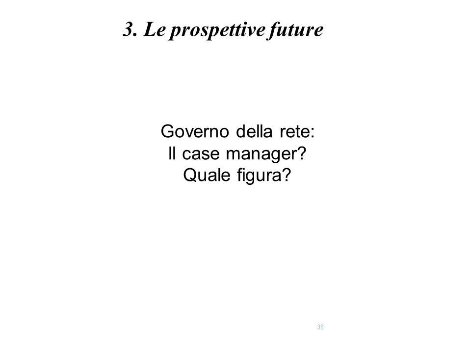 3. Le prospettive future Governo della rete: Il case manager