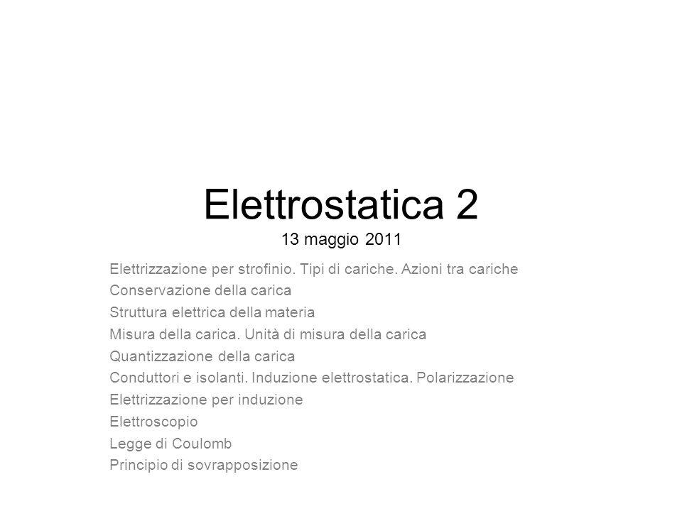 Elettrostatica 2 13 maggio 2011