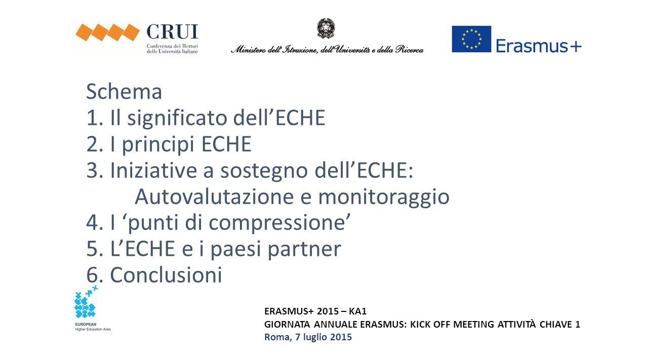 Schema 1. Il significato dell'ECHE 2. I principi ECHE 3