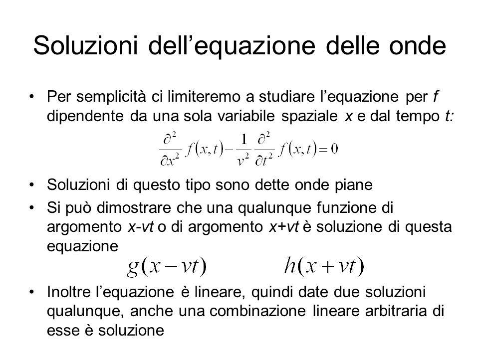 Soluzioni dell'equazione delle onde