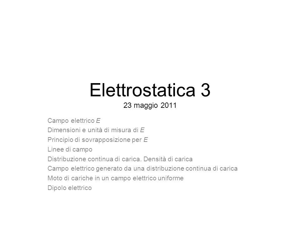 Elettrostatica 3 23 maggio 2011