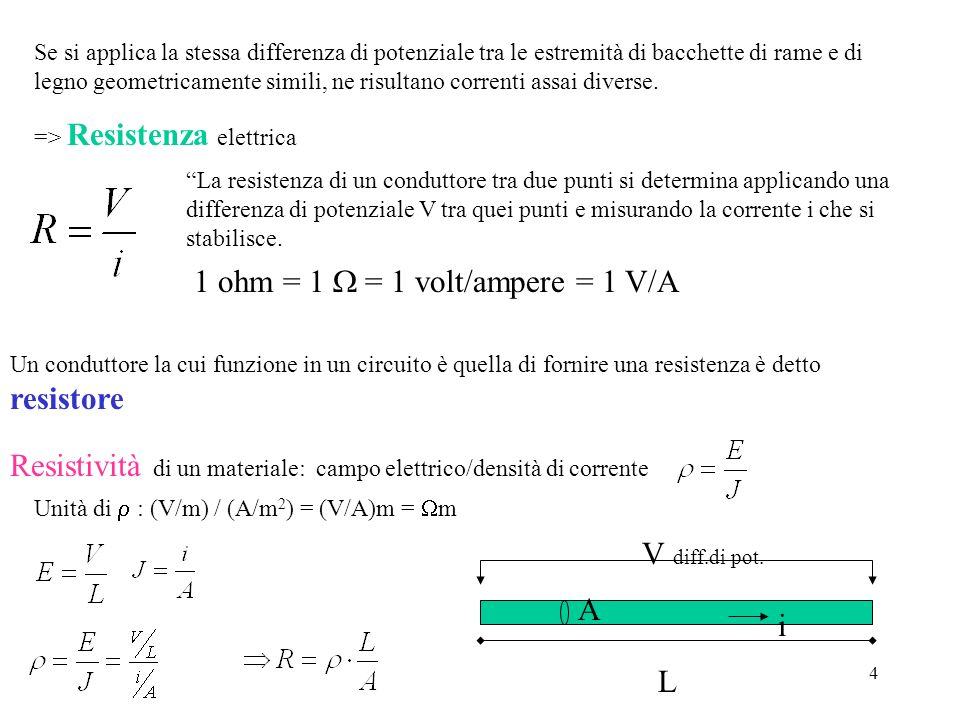 1 ohm = 1 W = 1 volt/ampere = 1 V/A