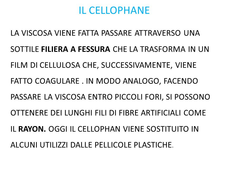 IL CELLOPHANE