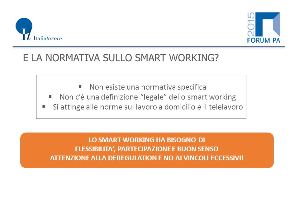 E LA NORMATIVA SULLO SMART WORKING