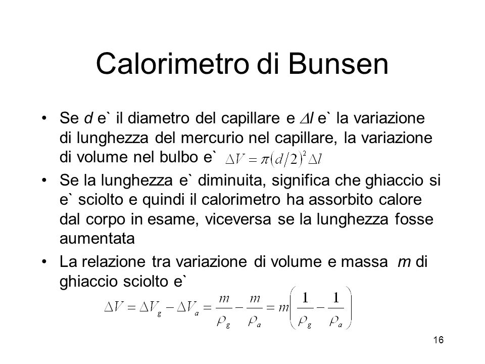 Calorimetro di Bunsen