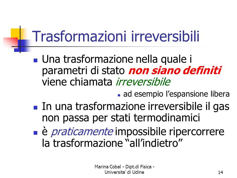 Trasformazioni irreversibili