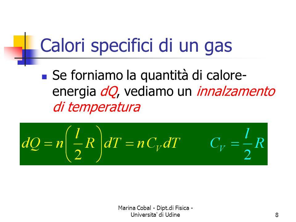 Calori specifici di un gas