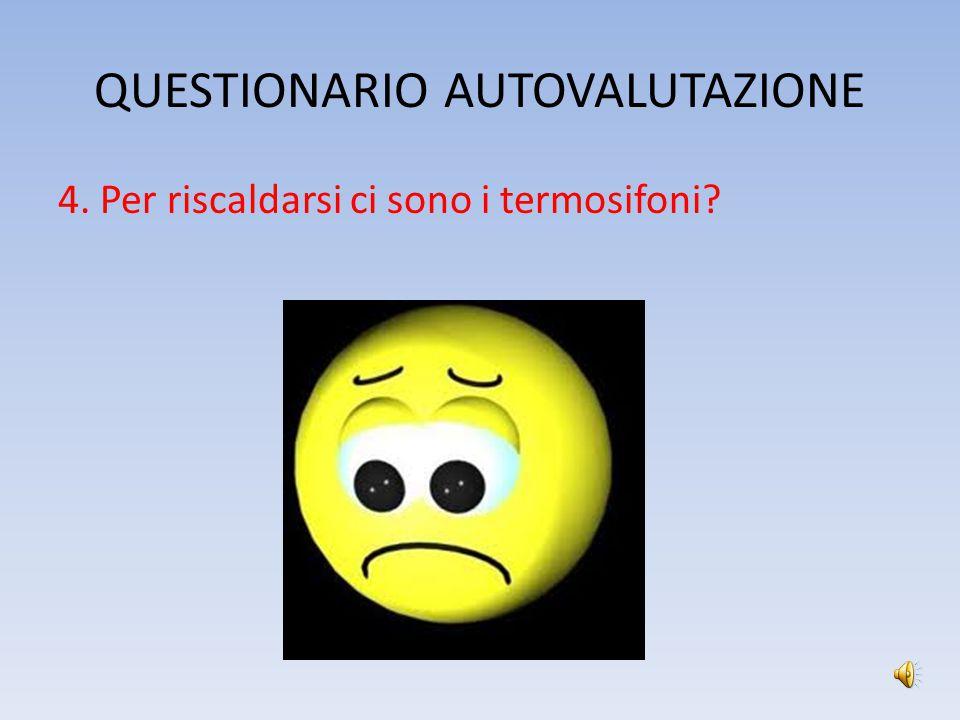 QUESTIONARIO AUTOVALUTAZIONE