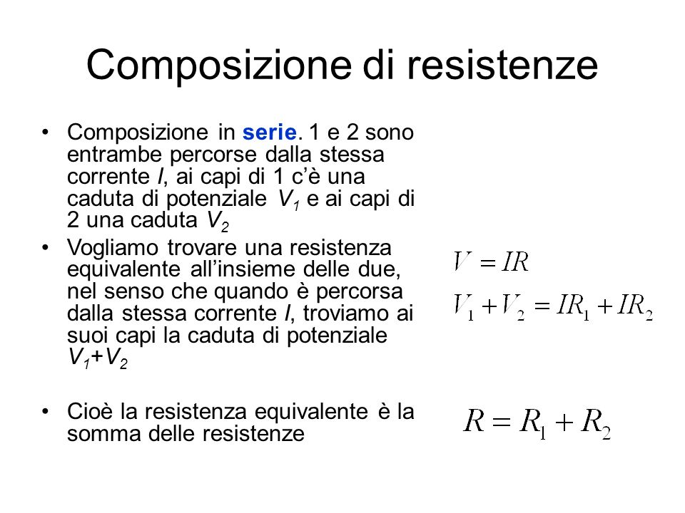 Composizione di resistenze
