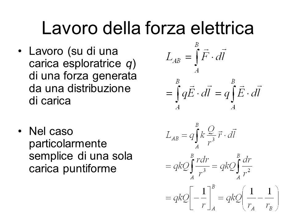 Lavoro della forza elettrica
