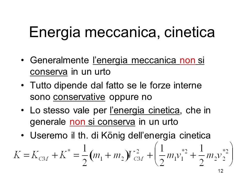 Energia meccanica, cinetica