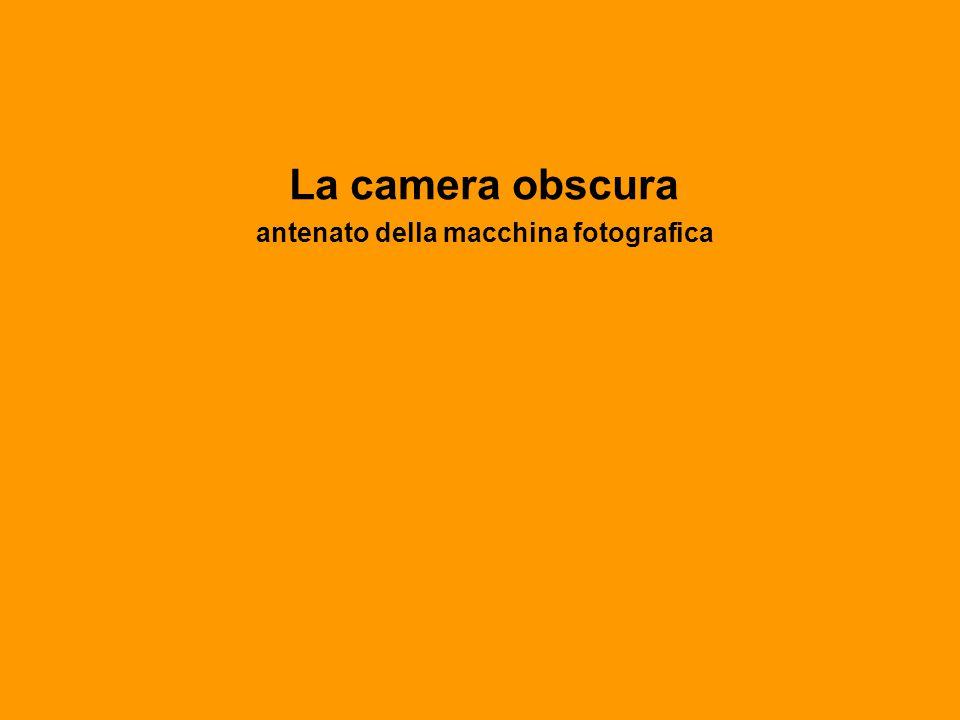 La camera obscura antenato della macchina fotografica