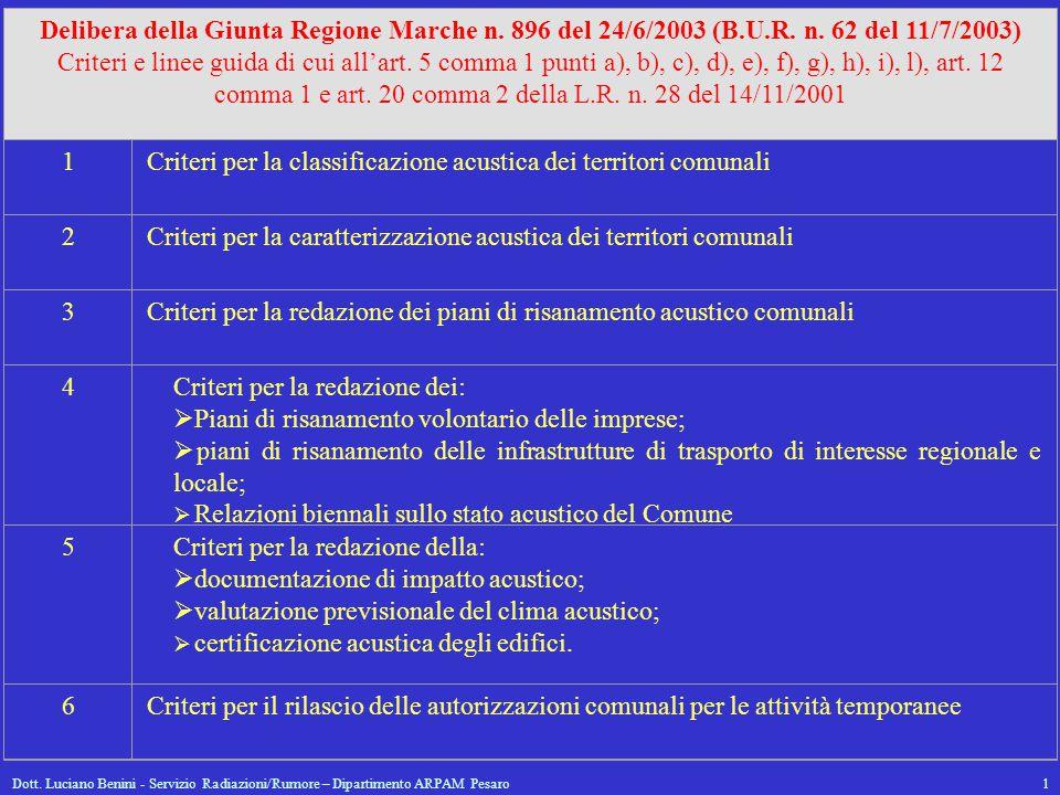 Criteri per la classificazione acustica dei territori comunali