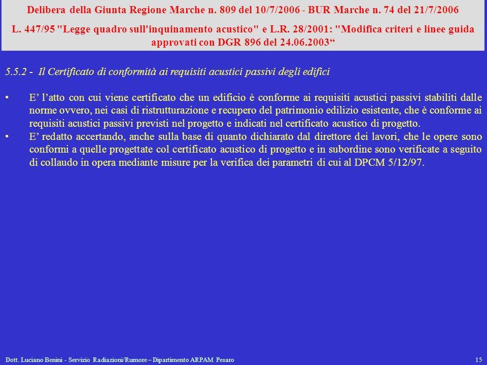 Delibera della Giunta Regione Marche n