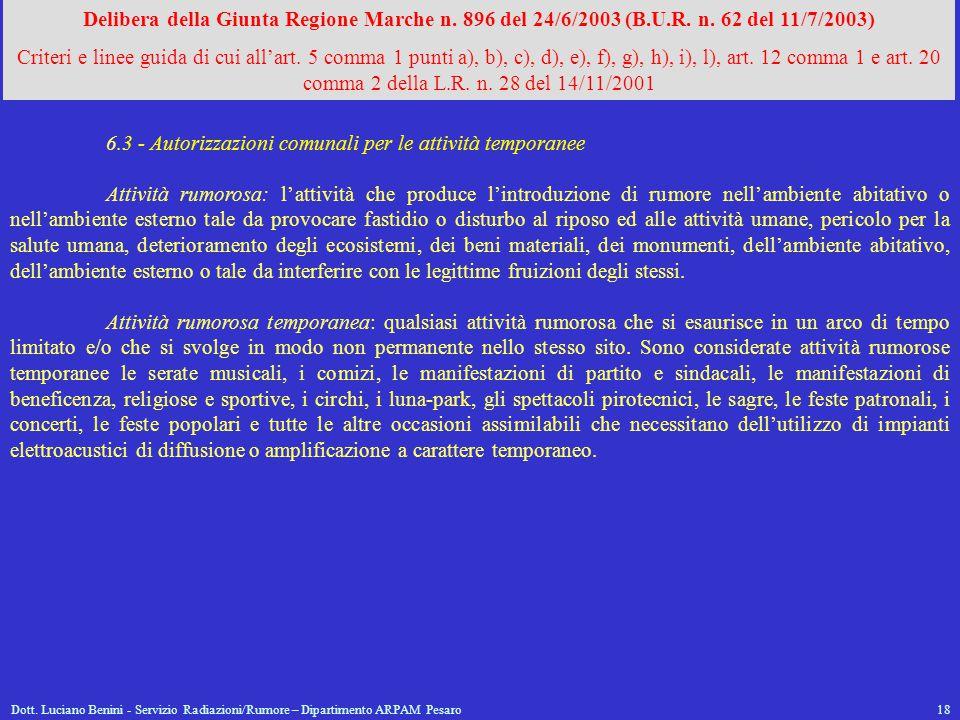 6.3 - Autorizzazioni comunali per le attività temporanee