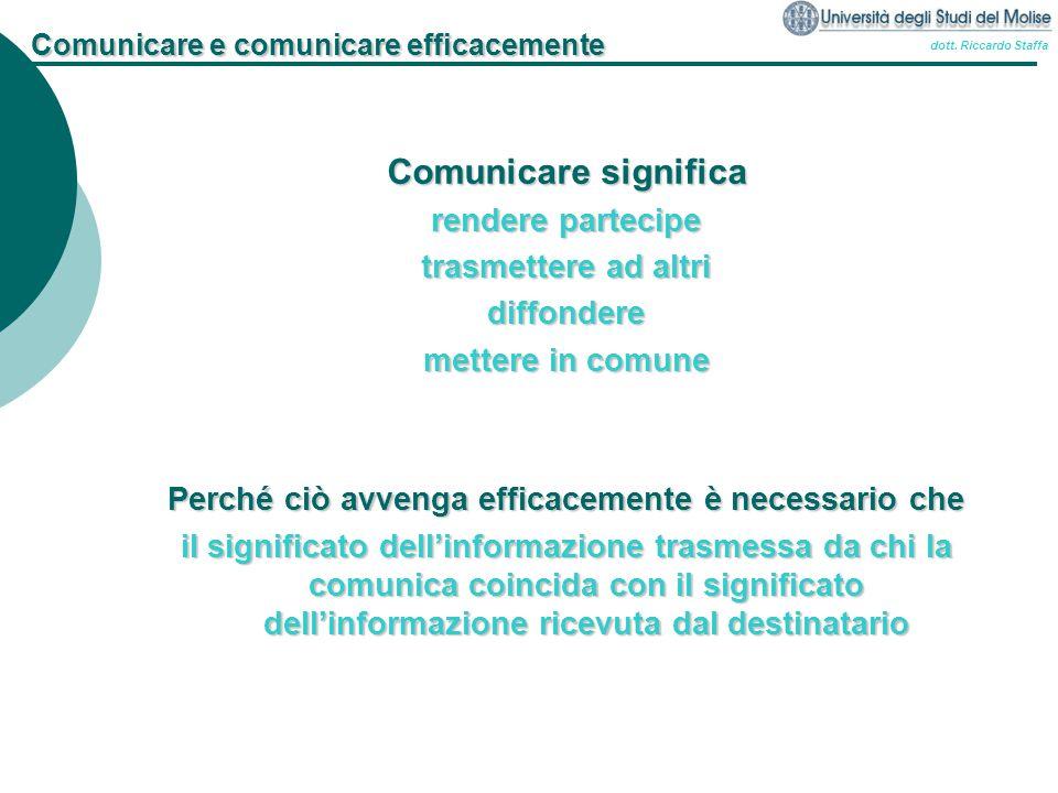 Comunicare e comunicare efficacemente