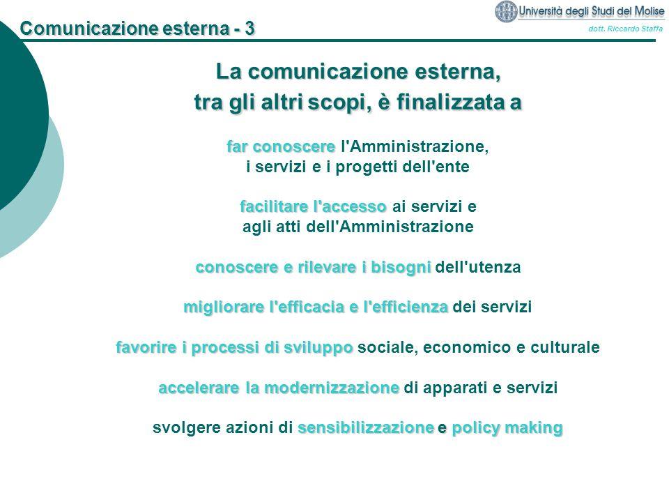 Comunicazione esterna - 3