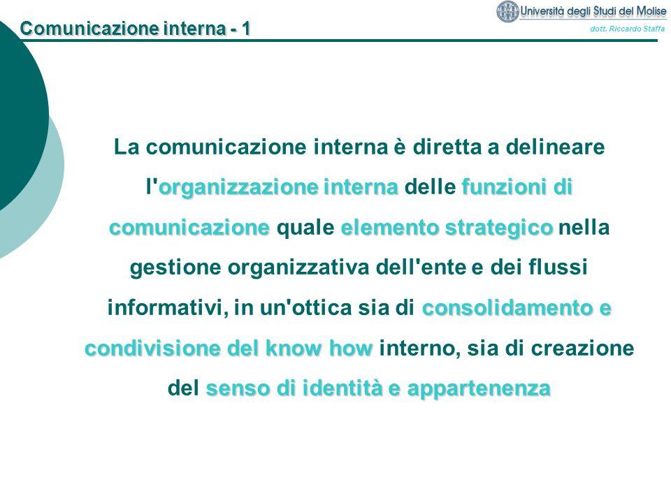 Comunicazione interna - 1