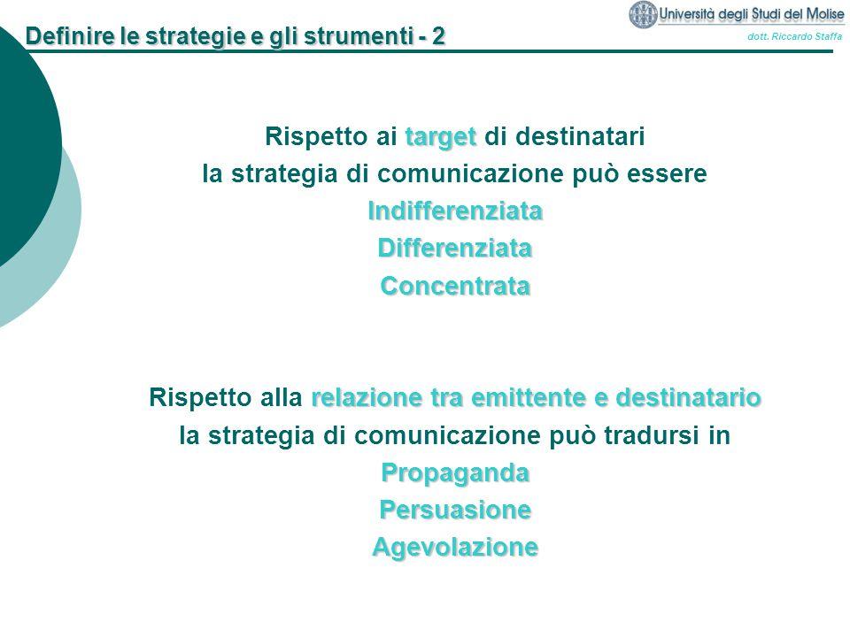 Definire le strategie e gli strumenti - 2