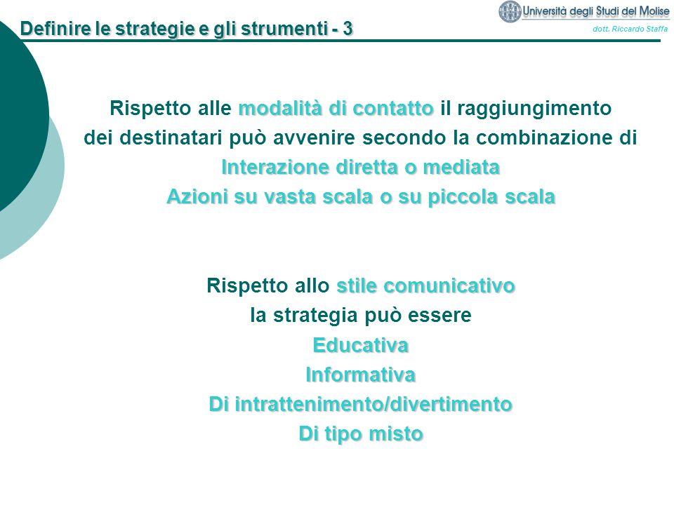 Definire le strategie e gli strumenti - 3