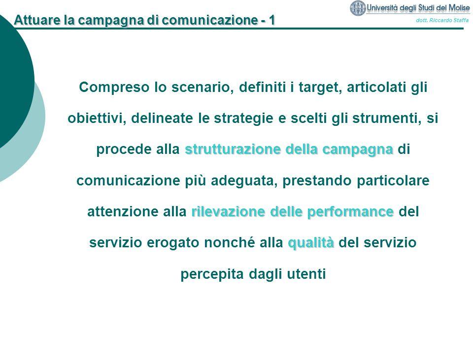 Attuare la campagna di comunicazione - 1