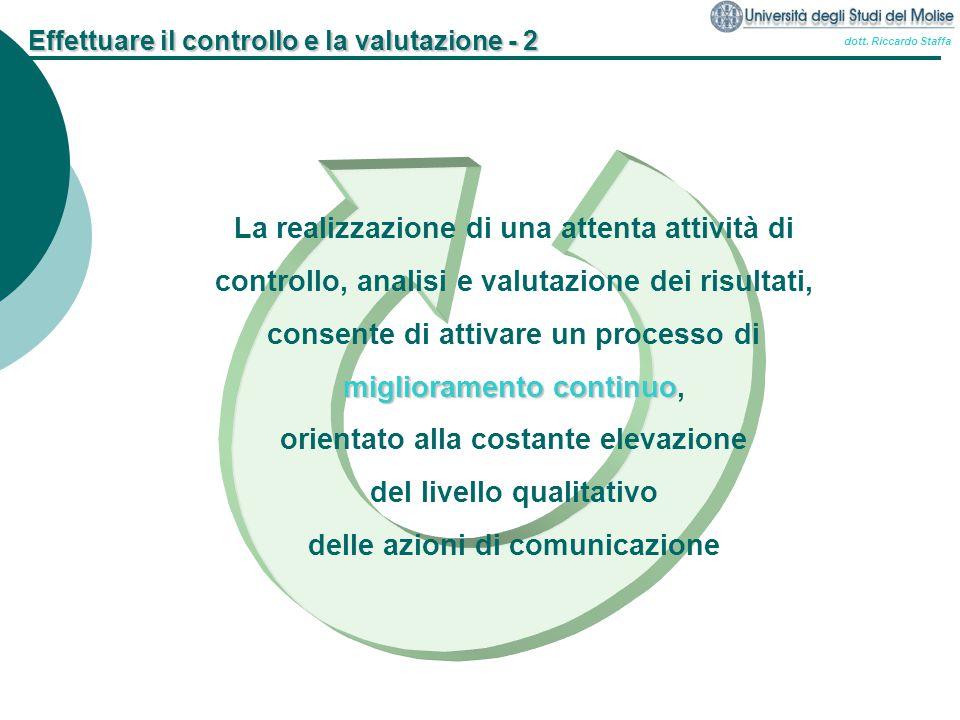 Effettuare il controllo e la valutazione - 2