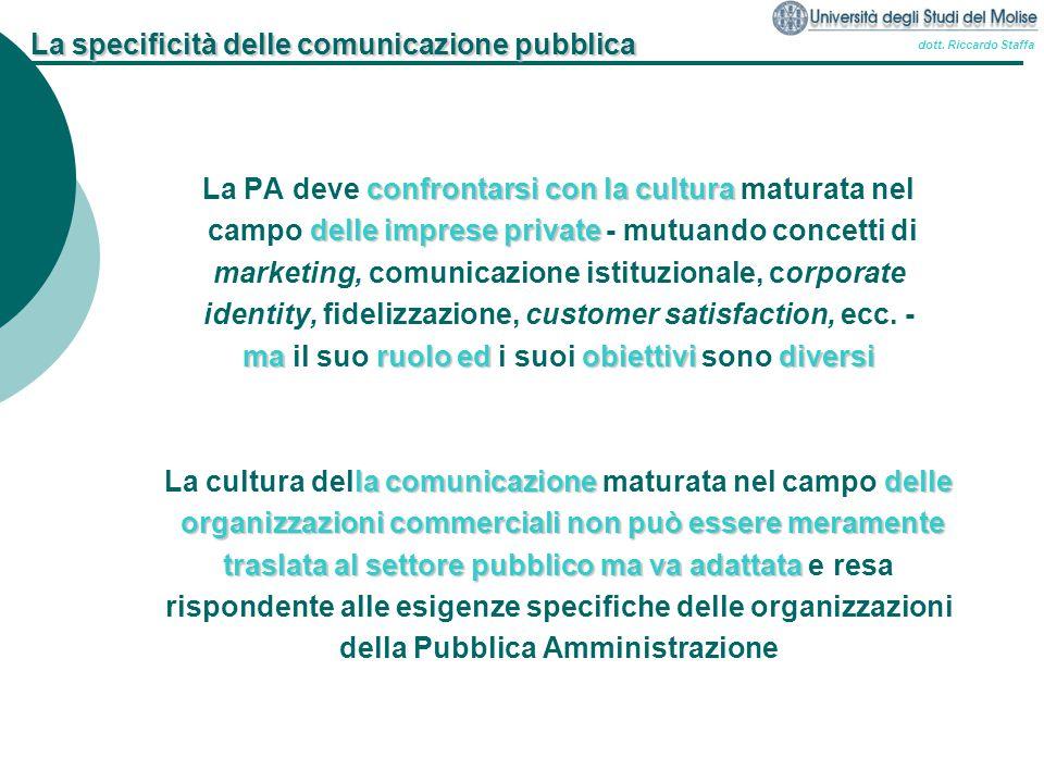 La specificità delle comunicazione pubblica