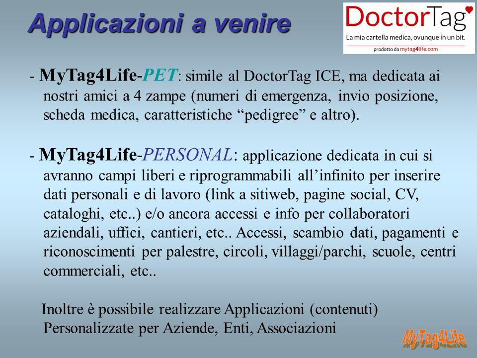 Applicazioni a venire MyTag4Life