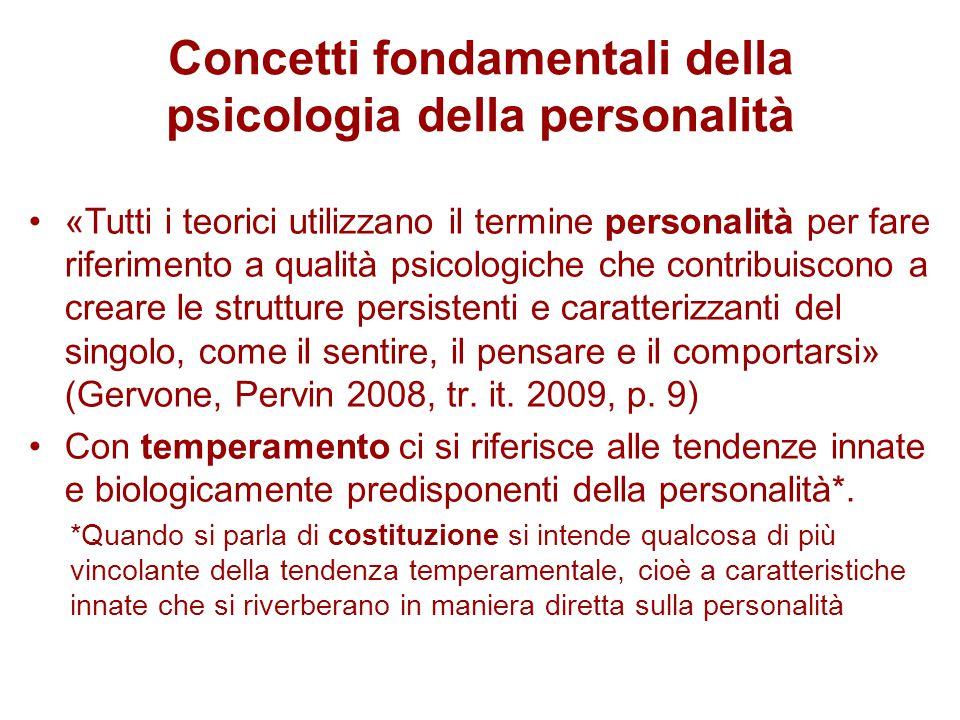 Concetti fondamentali della psicologia della personalità